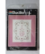 Bucilla 40304 Floral Lace Wedding Sampler Counted Cross Stitch Kit New &... - $17.81