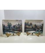 1997 Lamplight Village Limited Edition Thomas Kinkade Collector Plates S... - $34.65