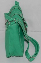 Non Branded Womens Parakeet Green Saddle Bag Purse With Shoulder Strap image 2