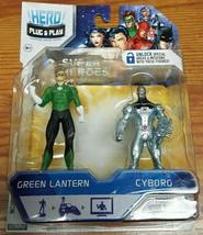 Jakks Pacific Hero Port 2 pack DC Comics Green Lantern Cyborg New - $6.43