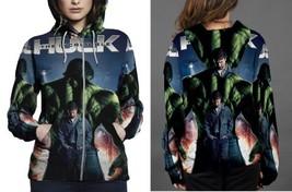 the incredible hulk movie poster Hoodie Zipper Women's - $48.99+