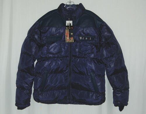 Rich N Fly RF1010 Navy Blue L Puffy Coat Heavy Duty Zipper
