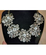 SUGARFIX by BaubleBar Women's Necklace Floral Crystal Sparkly Stone NWT - $39.62 CAD