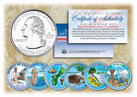 2009 DC & US TERRITORIES Quarters COLORIZED * 6-Coin Set * STATEHOOD w/C... - $13.81