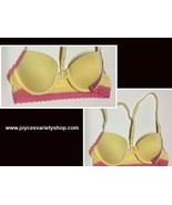 Lais L'd Bras Padded NWT Sz 32A White or Yellow w/Pink Lace - $7.99