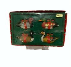 1983 Enesco Water Fowl Ducks & Geese Christmas Ornament Set of 4 - $39.57