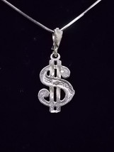 """VINTAGE 10K GOLD NECKLACE WITH GOLD """"$"""" SIGN PENDANT  3.68g  E1410 - $140.00"""