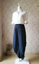 Summer Linen Harem Pants Women Boho Pants Loose Fitting Wide Leg Pants One Size image 1