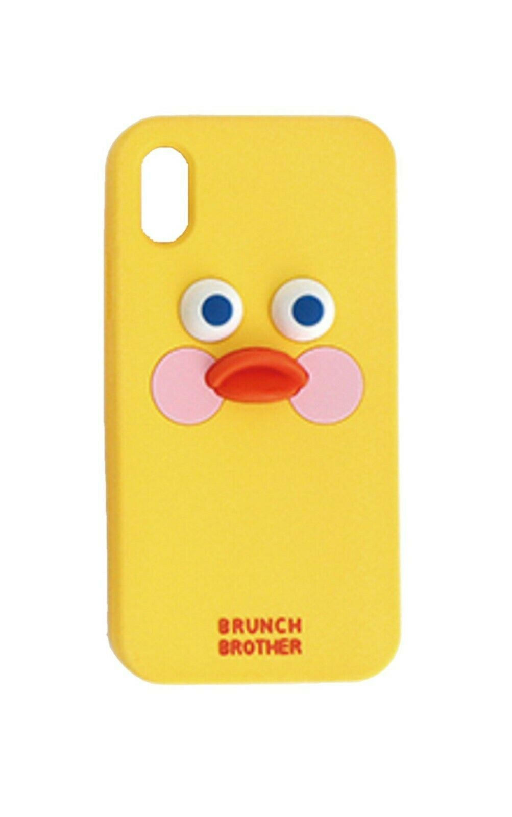 Brunch Brother iPhone X Silicon Case Cover Protector Version 2 (Yellow Duck)