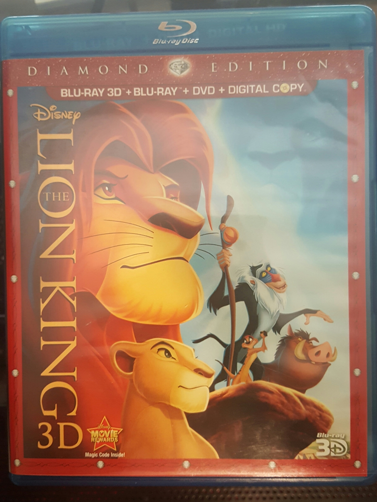 Lion King 3D: Diamond Edition Blu-ray 3D+Blu-ray+DVD]