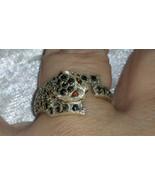 Vintage Tiger Marcasite elegant sterling silver ring size 8.5 Downton Abbey - $56.00
