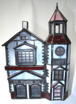 Forma Vitrum Vitreville Main Street Collection Firehouse Fire Stained Glass - $89.99