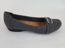 Clarks collection flats cushioned gray textile felt women's 8.5 - $28.04