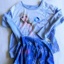 Frozen Elsa Pajamas Medium 7 8 -2 Piece Set Long Sleeve Shirt & Pants - $17.81