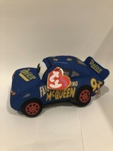 "TY Disney Cars 3 Plush Fabulous Lightning McQueen 7.5"" Soft Blue Toy NEW... - $9.99"