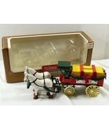 Horse & Wagon Dr. Pepper Soda Advertisement Die-Cast Metal Coin Bank & K... - $44.55