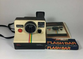 Sears Special OneStep Land Camera Polaroid With Flash Bar And Booklet - $35.64