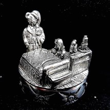 Pewter Bedtime Prayers Trinket Box Miniature Ornament - $19.67