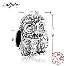 925 Sterling Silver Owl Charms Fit Original Pandora Charm Beads Bracelet... - $19.63