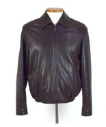 Reilly Olmes Brown Leather Bomber Jacket Mens Size S Super Soft Zip Up L... - $48.50