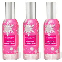 New Bath & Body Works Twisted Peppermint Concentrated Room Spray 3 Pc Set - $23.36