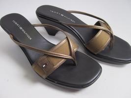 Tommy Hilfiger Slip On Thong Dressy Sandals Siz... - $19.78
