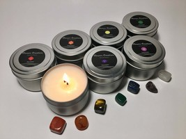 Chakra Candles: Set of 7 (4oz) - Made with pure essential oils - $29.99