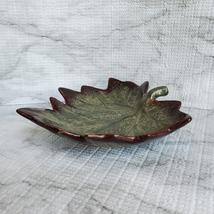 "Ceramic Grape Leaf Dish, 7"", Pottery Spoon Rest, Bowl, Teabag Holder, Soap Dish image 5"