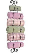 Large Decorative Charcoal Industrial Adirondack Metal Towel Rack Holder ... - $46.43
