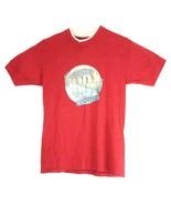 VTG Endangered Species Zebra Red Double Neck T-Shirt Size Medium - $39.59