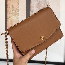 Tory Burch ROBINSON CONVERTIBLE SHOULDER BAG Brown Authentic - $275.00
