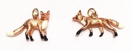 Joan Rivers Noah's Ark Foxes Charm Pair Set Rose Goldtone Male & Female ... - $55.00