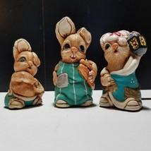 Mereside Woodlander Rabbit Figurines Ollie Porky Simon Made in England L... - $13.09