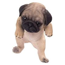 Pacific Giftware PT Realistic Look Hanging Statue Pot PAL Pug Puppy Dog ... - $26.72