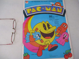 Pac Man Poster Book Vintage Bally Midway Arcade Vintage Video Game Class... - $124.38