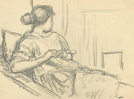 Harold Hope Read (1881-1959) - Set of Three 1925 Graphite Drawings, Hild... - $120.67