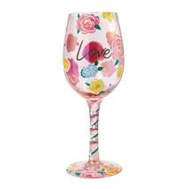 "Love ""Designs by Lolita"" Wine Glass 15 o.z. 9"" Gift Boxed Collectible Lolita"