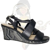 Cole Haan Women's Black Open Toe Wedge Slingback Strappy Buckle Sandals ... - $34.88