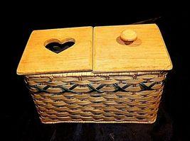 Tender Heart Treasures Woven Handmade Basket AA18-1359 Vintage 1995 image 8