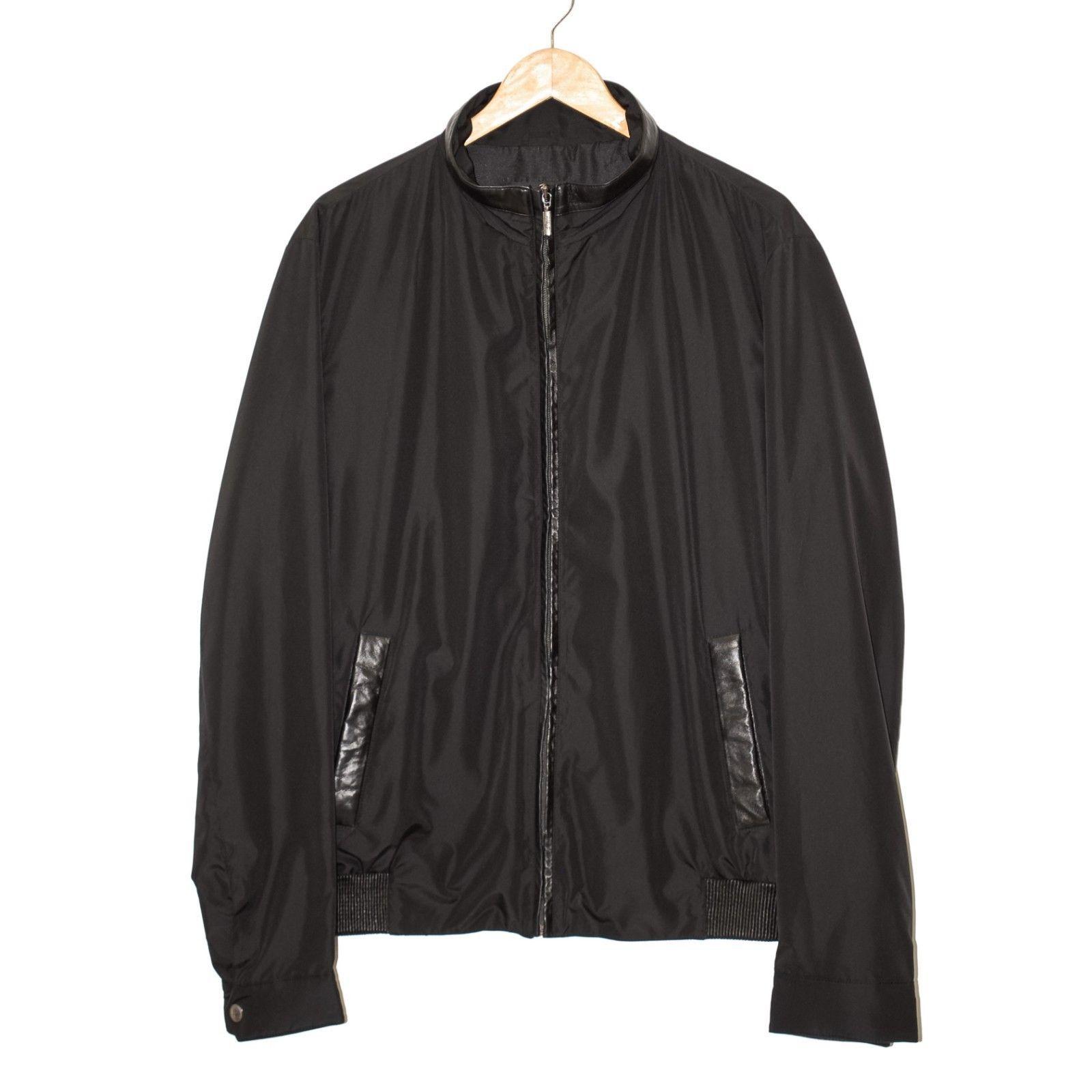 abe91d585 BRIONI Men's Black Microfiber Leather Jacket and 50 similar items