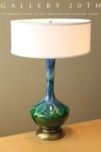WOW! MID CENTURY DANISH MODERN BLUE GREEN GLAZED DRIP LAMP EAMES 50'S VT... - €1.482,85 EUR