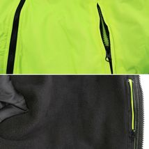 Men's Class 3 Safety High Visibility Water Resistant Reflective Neon Work Jacket image 6