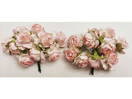 Wild Orchid Crafts Mulberry Paper Pale Pink Roses, 25mm, 20 Count image 2