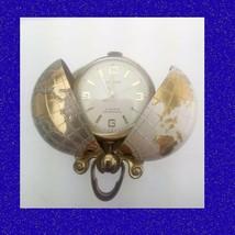 Pretty Swiss Art Deco Vintage Fob World Globe Pocket Watch 1950 - $134.00