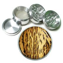 Animal Prints D12 63mm Aluminum Kitchen Grinder 4 Piece Herbs Brown Tiger - $13.81