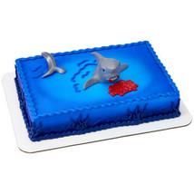 Shark Fin Cake Decoration Party Supplies TOPPER KIT Ocean Animals Birthd... - $9.85