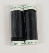 Mettler Cotton 60 wt. Thread Black 2 spools - $7.80