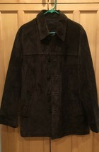 Men's Vintage GAP 100% Suede Leather Jacket Coat Sz M Button Up - $25.50
