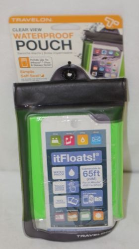 Travelon 12505 Green Clear View Floating Waterproof Pouch