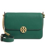 NWT Tory Burch Chelsea Leather Crossbody Bag w/ Strap Malachite Green AU... - $278.00